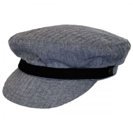 Brixton Hats Kurt Herringbone Cotton Fiddler Cap
