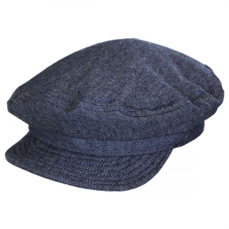 Unstructured Linen and Cotton Fiddler Cap alternate view 1