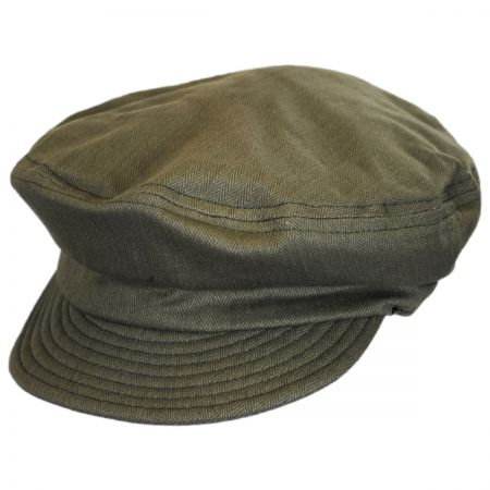 Unstructured Linen and Cotton Fiddler Cap alternate view 7