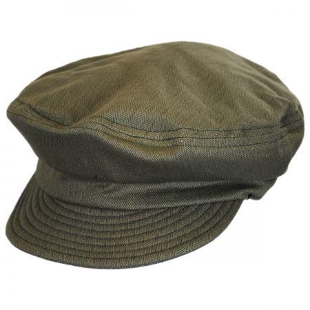 Brixton Hats Unstructured Linen and Cotton Fiddler Cap
