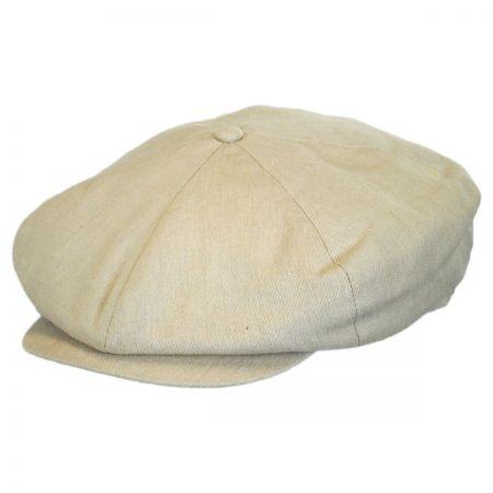 Brixton Hats Ollie Linen and Cotton Newsboy Cap