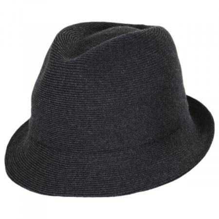 Rib Knit Cotton Blend Arnold Trilby Fedora Hat alternate view 5
