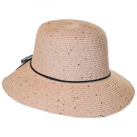 Sequin Toyo Straw Cloche Hat