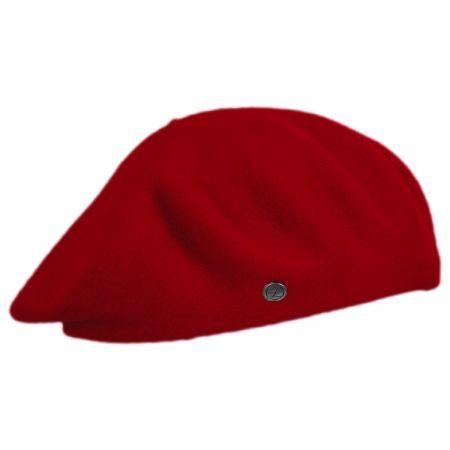 Red Wool Beret at Village Hat Shop 24390c89f