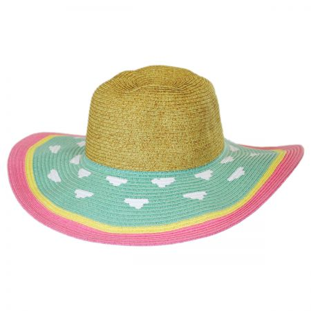 Jeanne Simmons Kids' Summer Fun Toyo Straw Sun Hat