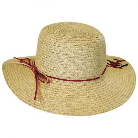 Jeanne Simmons Kids' Cherry Blossom Toyo Straw Sun Hat