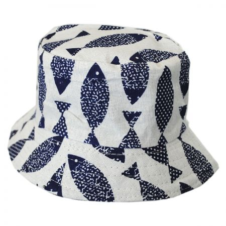 Toddlers' Fish Cotton Bucket Hat