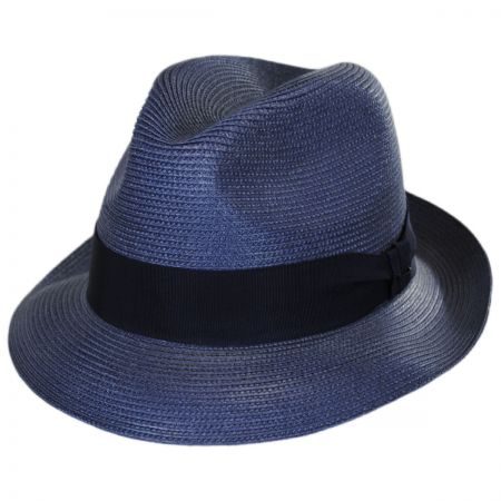 32b60d2e34b75 Navy Fedora at Village Hat Shop
