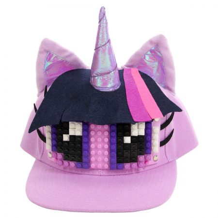 Twilight Sparkle Bricky Blocks Snapback Baseball Cap alternate view 1