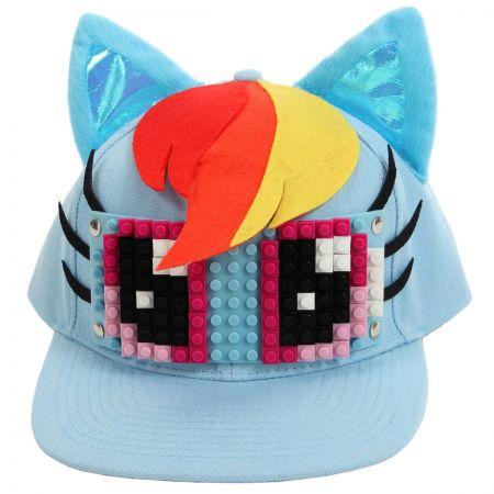 Rainbow Dash Bricky Blocks Snapback Baseball Cap alternate view 1