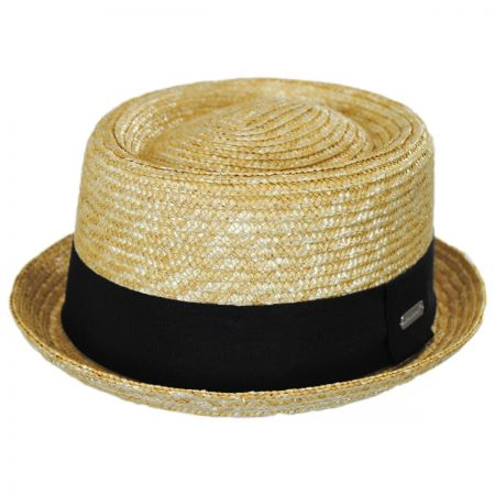 Wheat Straw Braid Pork Pie Hat alternate view 13