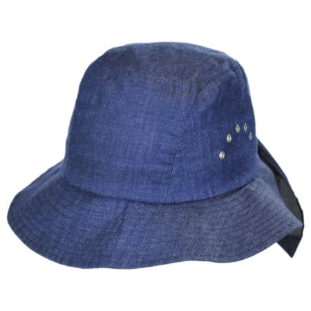 Betmar Knotted Cotton Cloche Hat