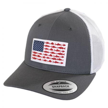 6be62edad4a3f Columbia Sportswear Kids  PFG Fish Flag Snapback Baseball Cap Boys