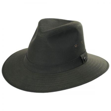 Jaxon Hats Cotton Oilcloth Safari Fedora Hat