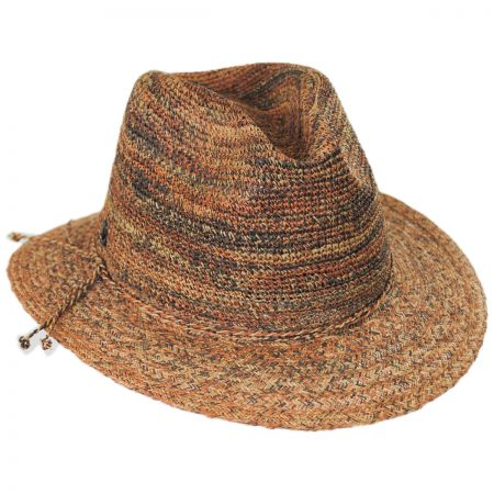 Callanan Hats Space Dye Raffia Straw Fedora Hat