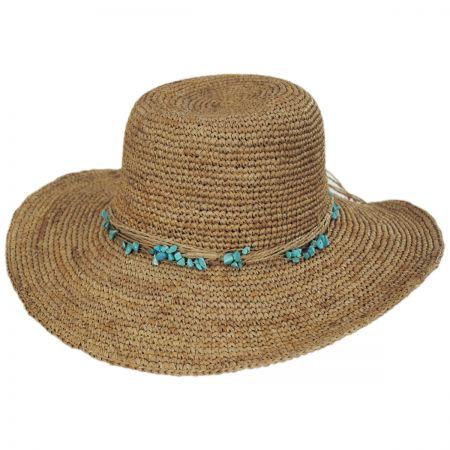 Callanan Hats Turquoise Raffia Swinger