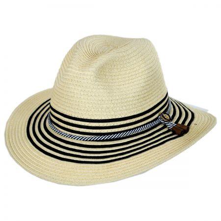 Rope Band Toyo Straw Fedora Hat alternate view 1