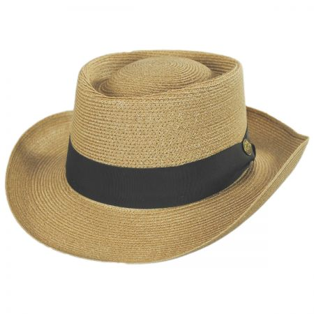 Stetson Pin Seeker Hemp Straw Gambler Hat