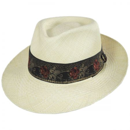 Romeo Panama Straw Fedora Hat alternate view 1
