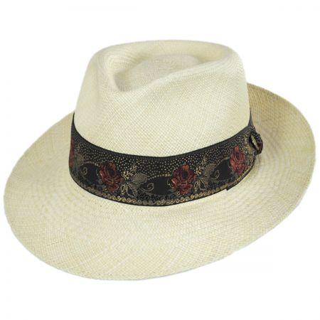 bf3b238e617f7 Stetson Romeo Panama Straw Fedora Hat