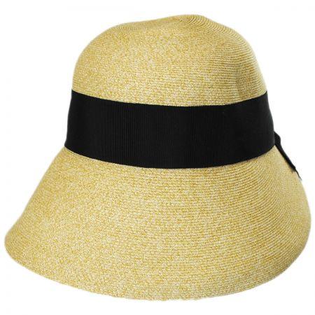 Fine Braid Toyo Straw Cloche Hat alternate view 5