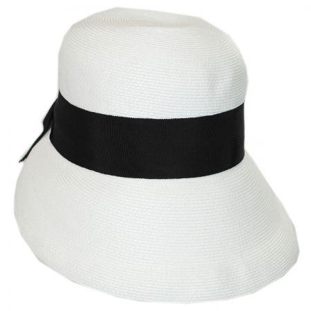 Fine Braid Toyo Straw Cloche Hat alternate view 9