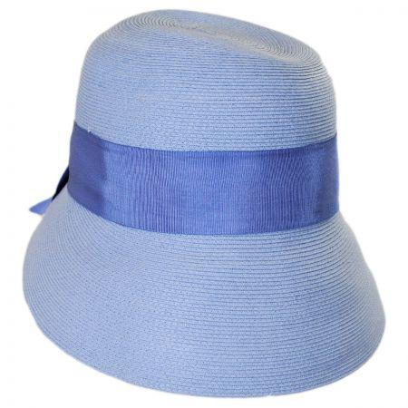 Fine Braid Toyo Straw Cloche Hat alternate view 1