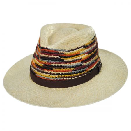 Bailey Tasmin Panama Straw Fedora Hat