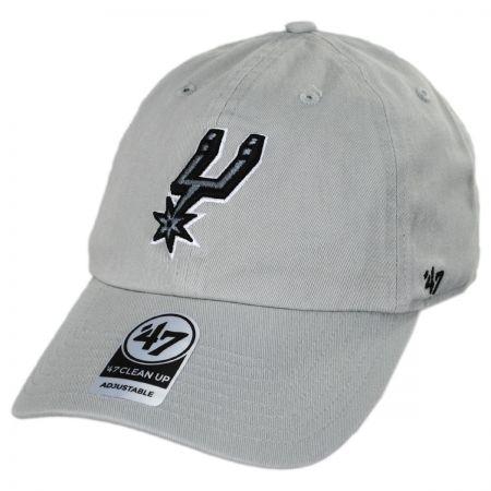 San Antonio Spurs NBA Clean Up Strapback Baseball Cap Dad Hat alternate view 3