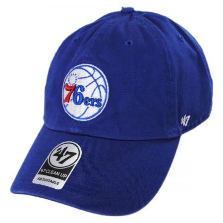 Philadelphia 76ers NBA Clean Up Strapback Baseball Cap Dad Hat
