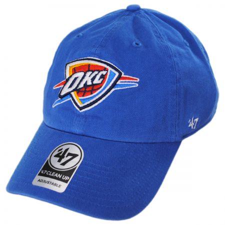 Oklahoma City Thunder NBA Clean Up Strapback Baseball Cap Dad Hat