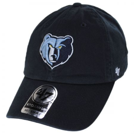 47 Brand Memphis Grizzlies NBA Clean Up Strapback Baseball Cap Dad Hat