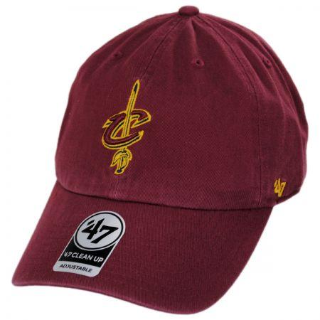 47 Brand Cleveland Cavaliers NBA Clean Up Strapback Baseball Cap Dad Hat II