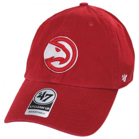 47 Brand Atlanta Hawks NBA Clean Up Strapback Baseball Cap Dad Hat
