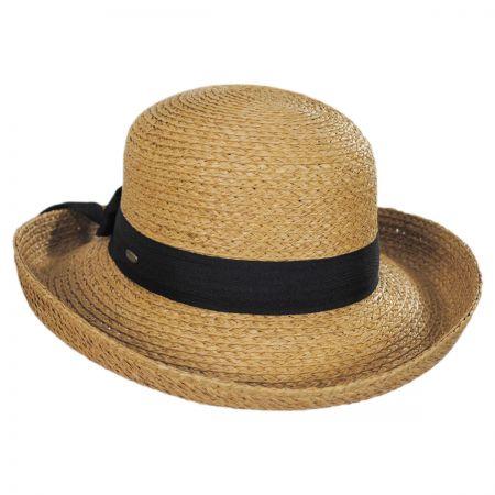 Scala Raffia Straw Braid Breton Hat