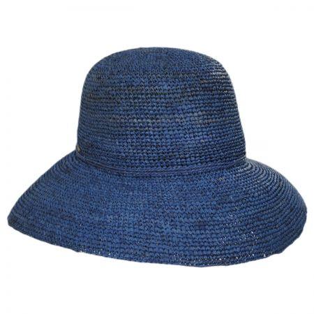 Scala Crochet Raffia Straw Roller Hat