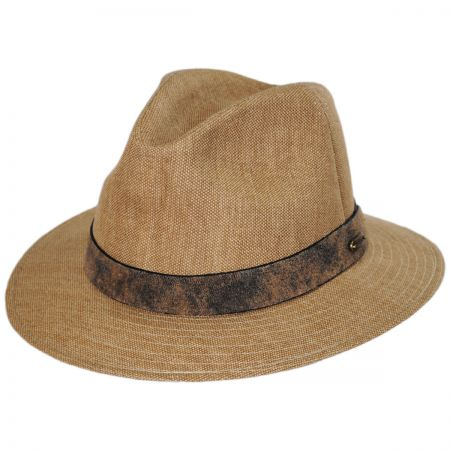 Weathered Canvas Safari Fedora Hat alternate view 1