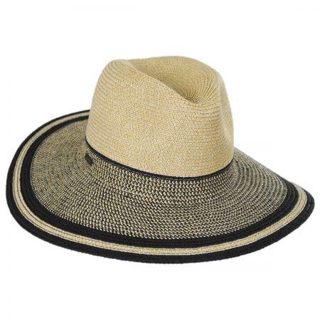 Betmar Porto Toyo Straw Wide Brim Fedora Hat