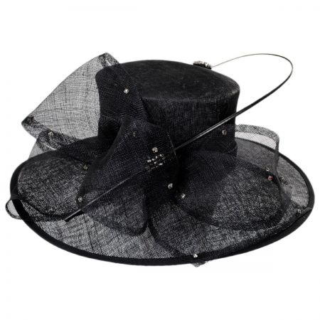 Scala Hollywood Park Straw Boater Hat
