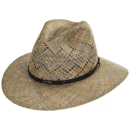 Eddy Bros Digby Seagrass Straw Safari Fedora Hat