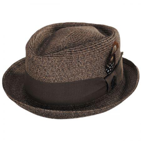 Stacy Adams Toyo Straw Diamond Crown Fedora Hat