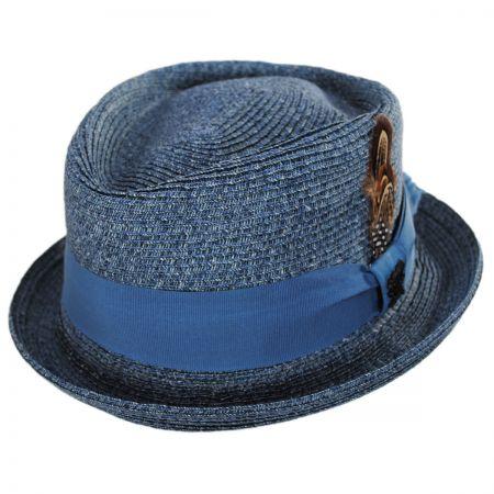 Toyo Straw Diamond Crown Fedora Hat alternate view 5