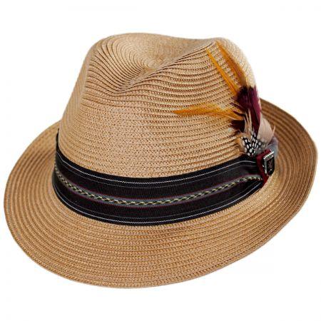 Striped Band Straw Trilby Fedora Hat