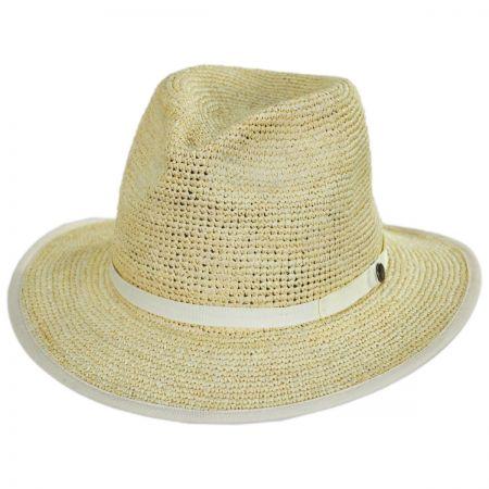Pt. Loma Crochet Raffia Straw Fedora Hat alternate view 1
