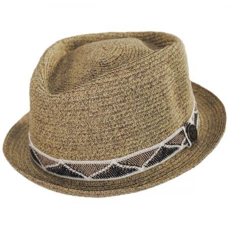 Albequerque Toyo Straw Diamond Crown Fedora Hat alternate view 1