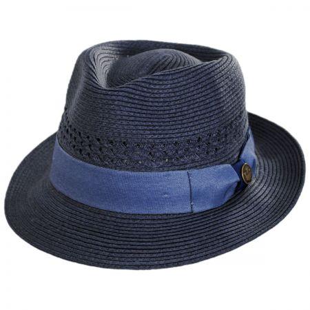 Boogie Vent Toyo Straw Fedora Hat alternate view 1