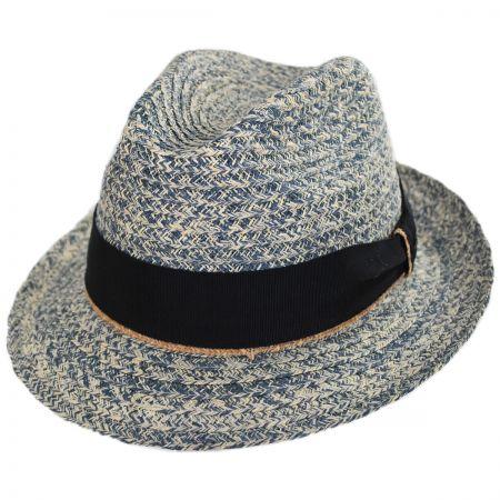 Romeo Raffia Straw Blend Trilby Fedora Hat alternate view 10