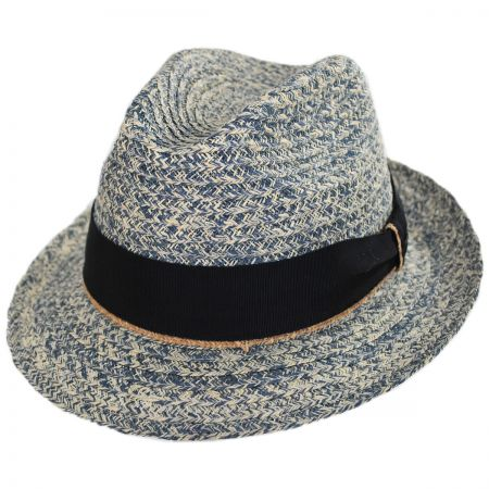 Romeo Raffia Straw Blend Trilby Fedora Hat alternate view 15