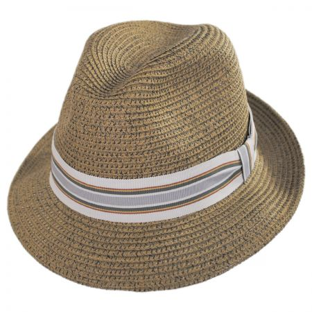 Salem Braided Toyo Straw Fedora Hat alternate view 2