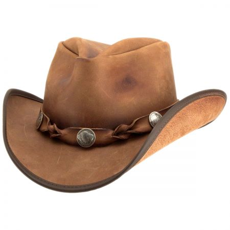 Head 'N Home Comstock Leather Western Hat